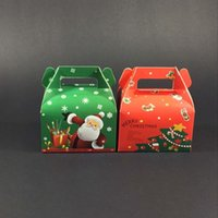 apple birthday cake - 100 X New Year Theme Apple Wrapper Cookie Box Red Green Xmas Series Baking Cake Boxes