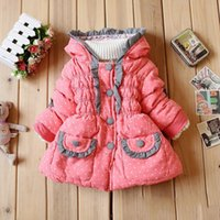 baby product jackets - Children coats Autumn and winter New product Girls Lace small love Jacket Fashion baby Keep warm Cotton padded clothes