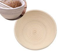 Wholesale 20 cm Round Banneton Brotform Bowl Shape Bread Proofing Proving Rising Rattan Baskets