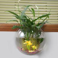 glass fishbowl - Fashion Fishbowl Hanging Acrylic Wall mounted Fish Tank Aquarium Bubble Bowl Fish Plant Pot Modern Home Decoration