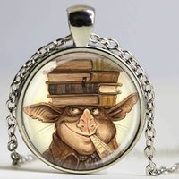 american boy book - library books necklace teachers jewelry gift for boy girl