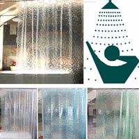 Wholesale New Clear D Water Cube Design PEVA Shower Curtain Bathroom Waterproof Fabric quot CM Bath High Quality Curtain color