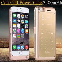 Wholesale 2016 new HOT Make Calls Rechargeable External mah Battery Case for iPhone Power Bank Luxury Case for iPhone S Protective Case