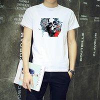 artistic breathable - Portrait Artistic Trend Line Of Men Cotton T shirt