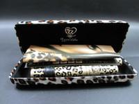 Wholesale in stock Leopard Print Love Alpha Black Eye Mascara Long Eyelash Silicone Brush curving lengthening mascara Waterproof Makeup