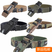 Wholesale Outdoor men s sports camping adventure climbing military army camouflage print belt waist support armed belt nylon fabric belt