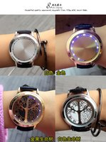 age light - Fashion smartwatch smart watch with Leather Watchband waterproof fall with LED light watch Touch screen AF