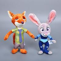 Wholesale Retail Zootopia Movie Plush Toy cm Rabbit Judy Hopps And Fox Nick Wilde Stuffed Dolls Toy Kawaii Zootopia Hot Toys For Children Gift