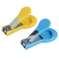 Wholesale Cute Child Baby Safety Mini Manicure Nail Clipper Cleaner Baby Safe Nail Scissors Blue Yellow Syeer L00098 SMAD