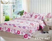beautiful comforters sets - New European quilted coverlet set queen beautiful flower printed Comforter Bedding Set Bed Patchwork Quilt