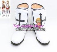 al por mayor botas asuna-Venta al por mayor de espada de arte en línea Asuna Cosplay zapatos Boots ver cuatro # TS089 por encargo