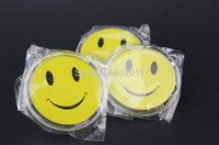 Wholesale 20 MM acrylic round PIN exhibition store worker employee smile badge holder frame brooch badge