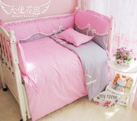 Wholesale Cheap baby bedding baby crib bedding Sets cotton bed around all inclusive package washable bed around baby bed set