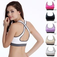 athletic tank - Hot Selling Multicolors Women Padded Top Athletic Vest Gym Fitness Sports Bra Stretch Cotton Seamless popular