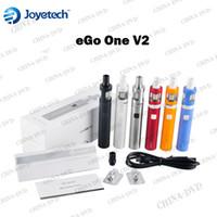 Cheap Original Joyetech eGo One V2 XL Kit 1500mAh 2200mAh Battery 2ML Atomzier with CL Pure Cotton Coil VS Kanger Evod Mega Electronic Cigarettes