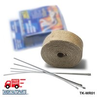 Wholesale Tansky Cool m Thermal Wrap exhaust insulating warp header warp exhaust pipe warp With STAINLESS TIES TK WR01