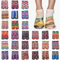 Wholesale Socks For Men And Women Burst Models Personalized Candy D Printing Food Men Socks Shallow Mouth Socks
