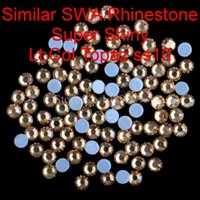 Wholesale New Super Shine Best Quality Ss10 Lt Col Topaz Hotfix Rhinestones Hot Fix Crystals Iron On Rhinestone For Garment