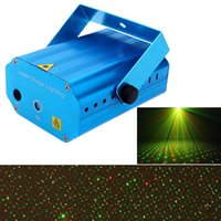 Wholesale Mini LED Red Green Laser Projector Stage Lighting Effect Patterns Voice activated Voice control DJ Disco Xmas Party Club Light Adjustment