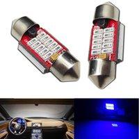 Cartes haute France-10pcs High Blue 31mm 10-SMD LED ampoules Festoon Car Dome Map Lights Lampes d'intérieur LED DIY