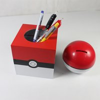 Wholesale SF EXPRESS Pocket monster piggy bank lovely pikachu fairy ball money box with one fairy ball one doll for children adults