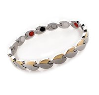 arrival rays - 2015 new arrival fashion jewelry men s stainless steel healthy energy benifits element magnetic germanium Infrared ray bracelet