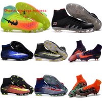 Wholesale New original mercurial superfly soccer cleats hypervenom phantom neymar cr7 soccer shoes jr football boots for men magista obra fg ronaldo
