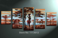 africa trees - Tree Oil Painting On Canvas High Quality Nude Women Africa Country Modern Wall Picture For Living Room Abstract Home Decor