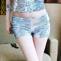 Wholesale New Sexy Women Dance Shorts Shiny Mini Sequined Shorts Hip Hop Night Club Jazz Dancer Shorts Sequins Details Clubwear FX1035