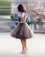 Wholesale New Tutu Tulle Skirts Summer Midi skirt Women Fashion Party Design saias femininas formal faldas cortas