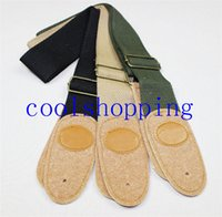 Wholesale Electric Acoustic Guitar Strap Leather Brown Black Green Belt Classical Strap Guitar Accessories