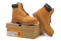 timberland boots - 2016 Fashion brand Timberlands boots men Breathable ankle guciheaven Brown safety work shoes vintage shoes mens casual boots
