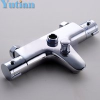 Wholesale Wall Mounted Two Handle Thermostatic Shower faucet Thermostatic mixer Shower Taps Chrome Finish YT