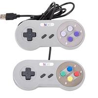 Precio de Joystick usb-Venta al por menor - Juego retro para el USB de SNES atado con alambre Controlador clásico de la palanca de mando de GamePad para la PC de Windows Seis botones digitales ZY-PS3-17