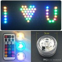 Wholesale 2016 Wedding Decoration Candle Lamps Remote Control Waterproof Party Mini LED Light With Battery For Christmas Halloween