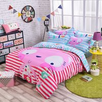 big cat beds - big face cat new cotton cartoon bedding set three pieces for full size four pieces for queen size machine wash good color fastness