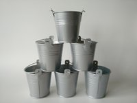 Wholesale 300pcs D7 H7 CM Cheap Metal Buckets Wedding Buckets Small Pails Flower pot for Wedding