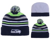 Wholesale Football beanies new arrrival sea hawks beanies Brand Football Pom pom caps Beanies Hot Selling Cap sports beanies for sale