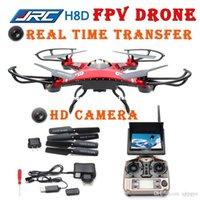 Wholesale FPV Monitor Ghz JJRC H8D CH Ghz Axis Gyro D Headless mode RC Quadcopter Drone UFO MP HD Camera drones profissionais