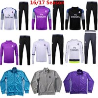 Wholesale Jackets Really madrid Tracksuits La Liga Madrid Sweater Suit Training Sets Ronaldo James Bale Hoody With Long Pants Top Quality