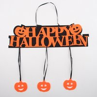 Wholesale DHL Halloween Decoration Hanging Hangtag Halloween Window Decoration doorplate Pumpkin Bat Ghost Skull Hanging Strips