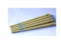 Wholesale Authentic pure beewax ear candle with protective disc organic unbleached muslin fabric