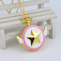 Wholesale NEW Arrival Gold Plated Anime Sailor Moon Jewelry Pendant Pocket Watch