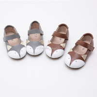 Wholesale New Baby girls Genuine Leather fox shoes Autumn Walker shoes Toddler infant Moccasins shoes C1185