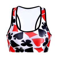 Wholesale Poker Pattern Wire free Ropa Yoga Mujer New Sexy Women Professional Quick Drying Sports Bra Padded Running Bra Bustier Crop Top Alice in Won