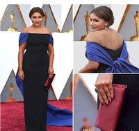 2016 vestidos de la celebridad del hombro de noche formales de los vestidos de la envoltura atractiva 88a Oscar de la alfombra roja de baile vestidos sin espalda con la cremallera Venta caliente