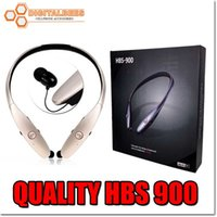 Wholesale Quality HBS hbs900 Bluetooth headset for Iphone wireless neckband headphone hbs For samsung NOTE LG Stereo handfree not original