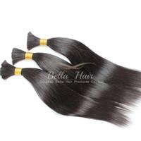 Wholesale 100 Human Hair Weave Hair Bulks Malaysian Human Hair Extensions Straight Weaves Top Quality A Bellahair Dhl