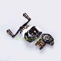 aluminum friction - DMK BB Baitcasting Fishing Reel Baitcast Dual Brake Magnetic Friction Brakes Aluminum Metal Frame Knob
