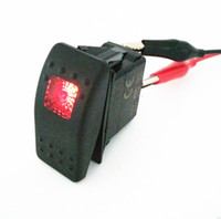 Wholesale 12V A WATERPROOF RED BLUE LED BAR ARB CARLING ROCKER TOGGLE SWITCH LED LIGHT CAR BOAT